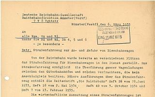 1935/1936 - Verschiedene Dokumente zum Einsatz von Culemeyer Straßenfahrzeugen