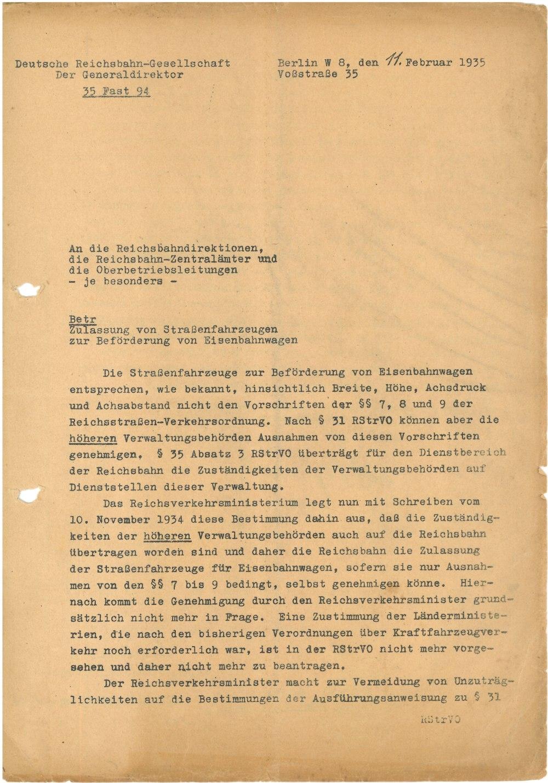Schreiben vom 11.02.1935 - Seite 1
