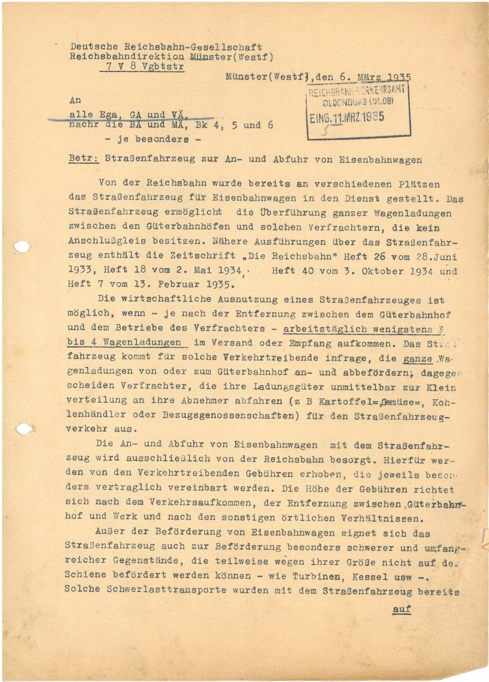 Schreiben vom 06.03.1935 - Seite 1